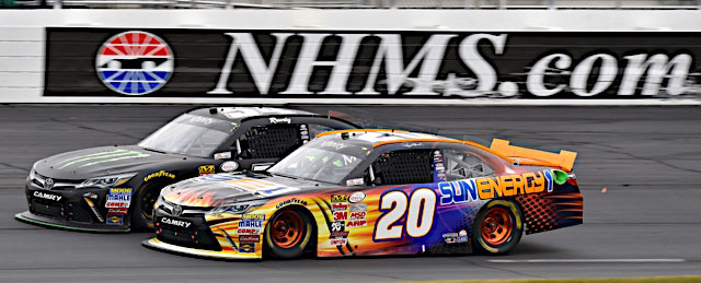 Denny Hamlin won the NASCAR XFINITY Series race at New Hampshire Motor Speedway, July 17, 2015 in the No. 20 SunEnergy1 Toyota -- ©2015, Nigel Kinrade NKP